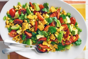 BBQ Corn and Chorizo Salad