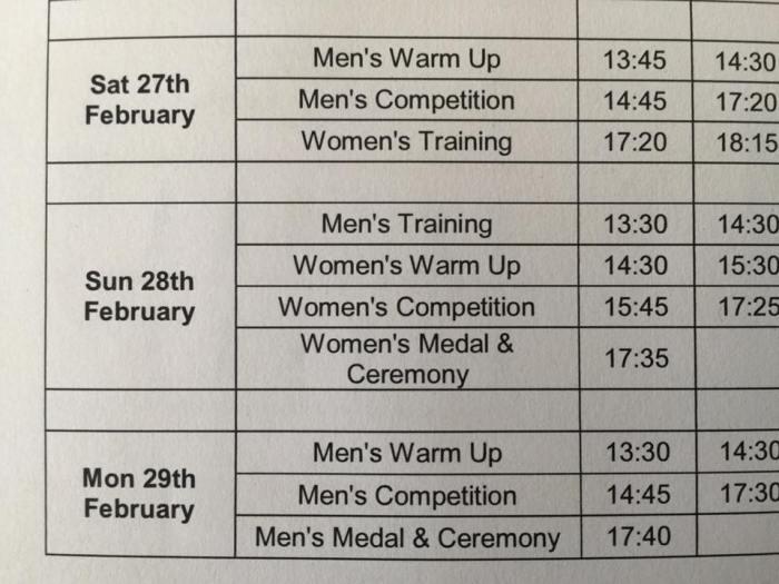 helena Schedule